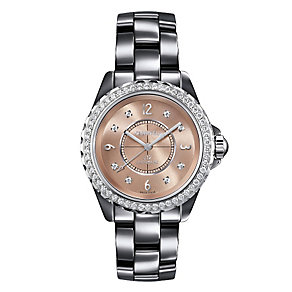 Chanel J12 Chromatic titanium ceramic diamond bracelet watch - Product number 9454152