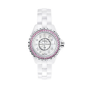 Chanel J12 sapphire and diamond set bracelet watch - Product number 9454241