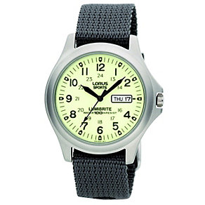 Lorus Lumibrite Canvas Strap Watch - Product number 9454462