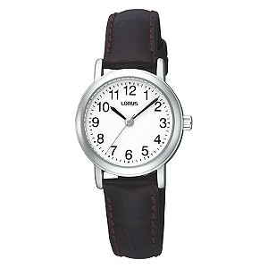 Lorus Ladies' Brown Leather Strap Watch - Product number 9454586