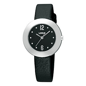 Lorus Ladies' Slim Black Leather Strap watch - Product number 9454616