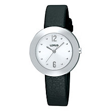 Lorus Ladies' Silver Dial Leather Strap Watch - Product number 9454624