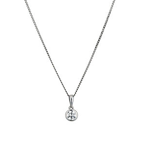9ct white gold made with Swarovski Zirconia pendant - Product number 9455299