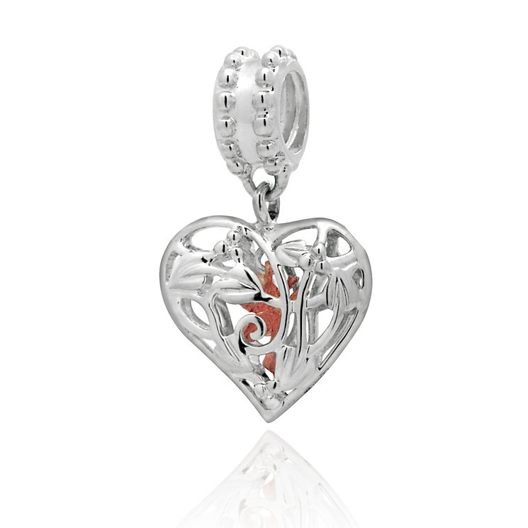Clogau Silver & Rose Gold Heart Charm - Product number 9460772