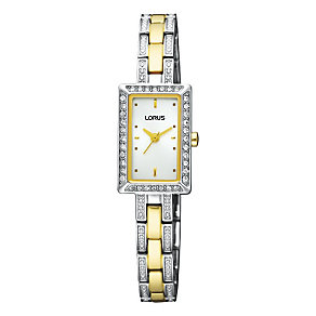 Lorus Ladies' Two Tone Swarovski Stone Set Watch - Product number 9462899