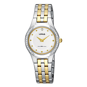 Lorus Ladies' Swarovski Two Tone Bracelet Watch - Product number 9466940