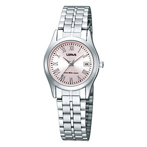 Lorus Ladies' Pink Round Dial Bracelet Watch - Product number 9467343
