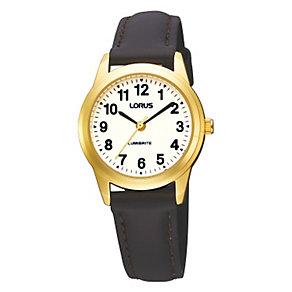 Lorus Lumibrite brown strap watch - Product number 9469419