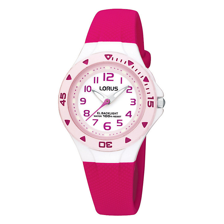 Lorus Children's Pink Plastic Strap Watch - Product number 9470808