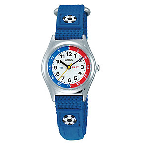 Lorus Boy's Blue Canvas Strap Watch - Product number 9474560