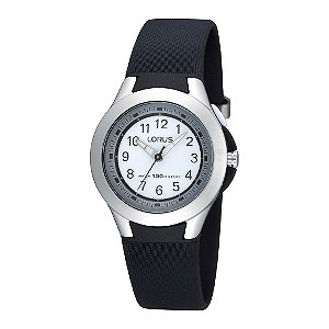 Children's Black Plastic Strap Watch - Product number 9477225