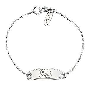 Sterling Silver ID Bear Bracelet