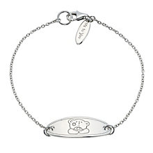 Me To You Sterling Silver ID Bear Bracelet - Product number 9497358