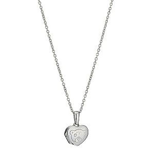 Me To You Sterling Silver Heart Shaped Bear Locket - Product number 9497366