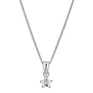 Silver and Diamond Daisy Necklace - Product number 9497560