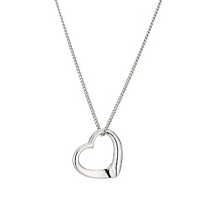 Silver Open Heart Pendant - Product number 9500189