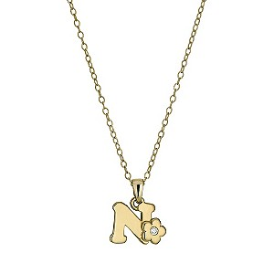 Kids' Gold Plated Initial N Pendant - Product number 9503668