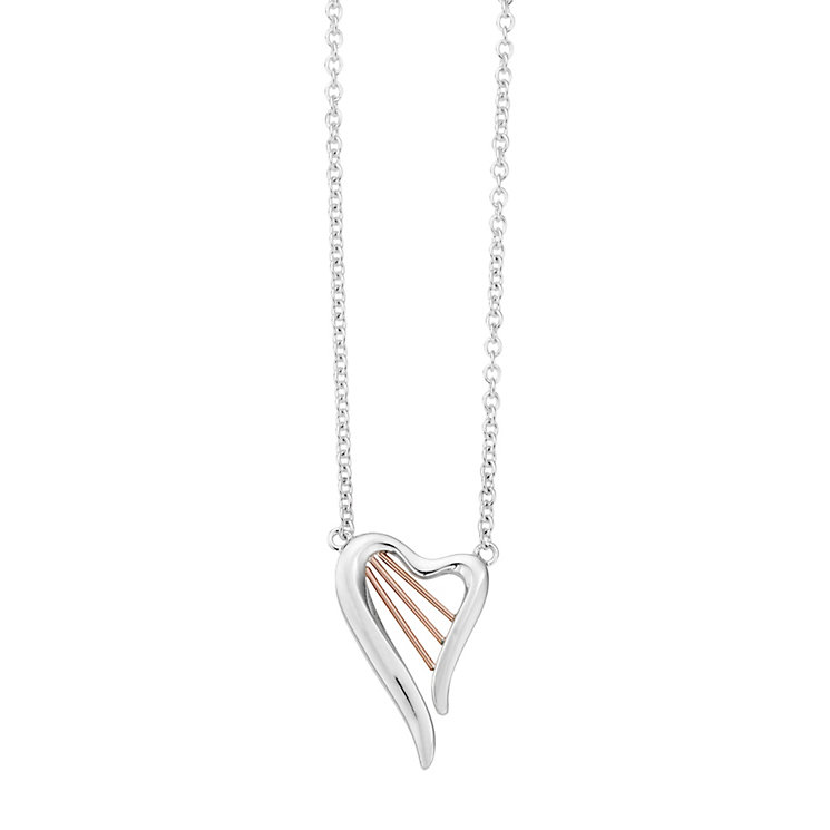 Clogau Silver & Rose Gold Heartstring Harp Pendant - Product number 9505377