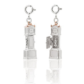Clogau Silver & Rose Gold Grandfather Clock Charms - Product number 9505407