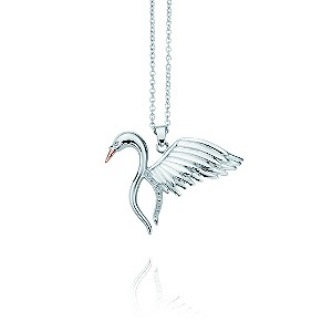 Clogau Silver & Rose Gold Swan Pendant - Product number 9505482