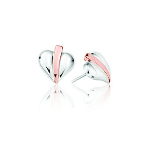 Clogau Silver & Rose Gold Love Vine Stud Earrings - Product number 9505490