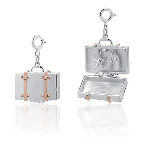 Clogau Silver & Rose Gold Retro Suitcase Charms - Product number 9505563