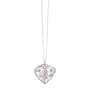 Clogau Silver & Rose Gold Kensington Heart Locket - Product number 9505792