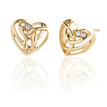 Clogau 9ct Yellow Gold Eternal Love Stud Earrings - Product number 9505946