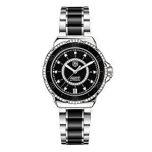 TAG Heuer F1 ladies' black ceramic automatic watch - Product number 9519092