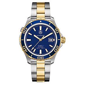TAG Heuer Aquaracer men's two colour bracelet watch - Product number 9519394
