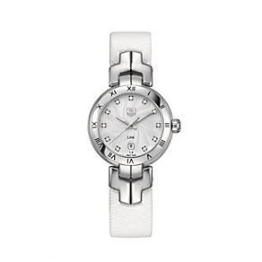 TAG Heuer Link ladies' diamond set white strap watch - Product number 9519823