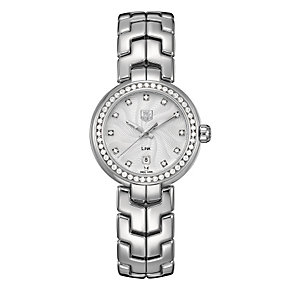 TAG Heuer Link ladies' diamond dial & bezel bracelet watch - Product number 9519858