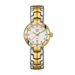 TAG Heuer Link ladies' two colour diamond bracelet watch - Product number 9519882