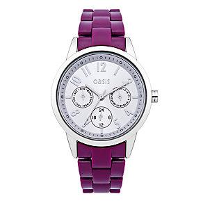 Exclusive Oasis Ladies' Purple Bracelet Watch - Product number 9521852