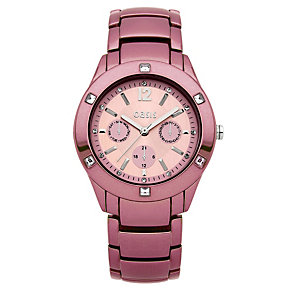 Oasis Ladies' Pink Stone Set Bracelet Watch - Product number 9521887