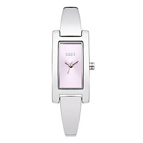 Exclusive Oasis Ladies' Rectangle Semi Bangle Watch - Product number 9522298