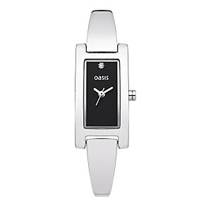 Exclusive Oasis Ladies' Rectangle Semi Bangle Watch - Product number 9522301
