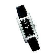 Oasis Ladies' Rectangular Diamond Dial Strap Watch - Product number 9523421