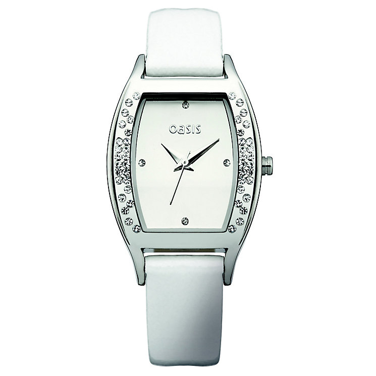 Oasis Ladies' Rectangular Diamond Dial Strap Watch - Product number 9523464