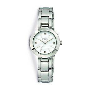 Oasis Ladies' Round Diamond Dial Bracelet Watch - Product number 9523480