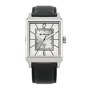 Ben Sherman Men's Silver Dial Black Strap Watch - Product number 9523774