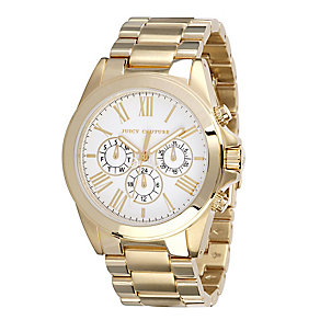 Juicy Couture ladies' yellow gold-plated bracelet watch - Product number 9526692