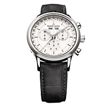 Maurice Lacroix men's black leather strap watch - Product number 9527761