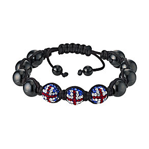 Eternal Crystal Union Jack Crystal & Hematite Bracelet - Product number 9528008