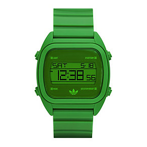 Adidas Sydney Men's Green PU Digital Watch - Product number 9528148