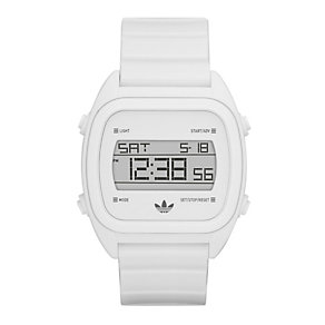 Adidas Sydney Men's White PU Digital Watch - Product number 9528172
