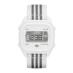 Adidas Sydney Men's White & Grey Fabric Strap Watch - Product number 9528199