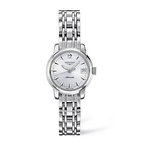 Longines ladies' polished stainless steel bracelet watch - Product number 9528474
