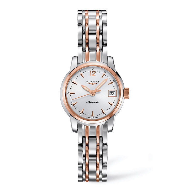 Longines ladies' silver dial two colour bracelet watch - Product number 9528490