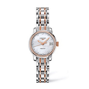 Longines ladies' two colour diamond set bracelet watch - Product number 9528504